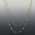 """48"""" 24K Gold Plated Diamond Like CZ Crystal Stones By The Yard"""