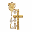 7mm Crystal Fire Polish Beads and Miraculous Center Rosary