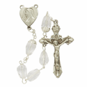 7mm Tear Drop Fire Polished Beads and Madonna Heart Shaped Center Rosary