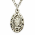 "Sterling Silver Baby Miraculous Medal on 13"" Chain"