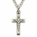 "Sterling Silver Baby Crucifix on 13"" Chain"