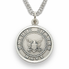 Women's's Nickel Silver Navy Medal, St. Michael on Back