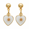 14k gold filled heart earrings with mustard seed inside