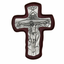 "6"" Cherry Wood Trinity Wall Crucifix"
