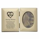 "8"" x 5"" x 1/2"" Gold Plated Metal Photo Frame"
