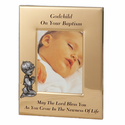 "6"" x 8"" Godchild Baptism Boy Metal Photo Frame"