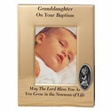 "6"" x 8"" Grandaughter Baptism Metal  Photo Frame"