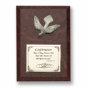 "5"" x 7"" Wood Plaque with Fine Pewter Confirmation Dove"