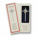 "6"" Silver Plated Cross With Fine Pewter Dove"