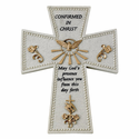 "6"" Resin Confirmation ""Confirmed in Christ""  Wall Cross"
