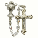 4mm Crystal Beads and Chalice Center Rosary