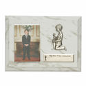 "5"" x 7"" Communion Boy Wood Plaque with Praying Boy Fine Pewter Casting"