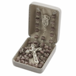7mm White Pearl Beads and Madonna Center Rosary