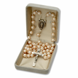 6mm Pearl Beads and Miraculous Center Rosary
