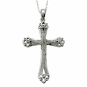 Real Diamond Cut Cross Necklaces
