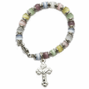 4mm Multi-Color Beads Baby Bracelet with Crucifix Charm