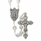7mm Round Crystal Glass Bead Rosary