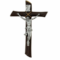 "9"" Resin Wall Crucifix with Silver Corpus"