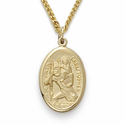"14K Gold Filled Oval St. Christopher Medal on 18"" Chain"