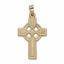 "1 & 1/4"" 14K Gold Celtic Cross Pendant"