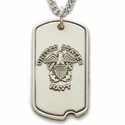 Sterling Silver Military Dog Tags with St. Michael on Back