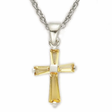Birthstone Cross Necklaces