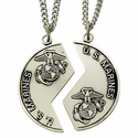 Sterling Silver Military Mizpah Medals