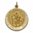 14K Gold Army Medal with St. Christopher on Back