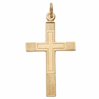 14 Karat Gold Cross on Cross