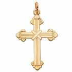 "1"" 14 Karat Gold Budded Cross"
