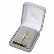 Sterling Silver Cross with 14K Gold Cross