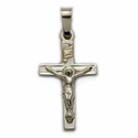 "3/4"" 14K White Gold Crucifix Pendant"