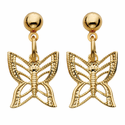 14k gold filled butterfly post earrings