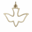 "5/8"" 14K Gold Outline Dove"