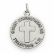 """Sterling Silver Girls Softball Player Medal with Cross on Back on 18"""" Chain"""
