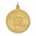 14K Gold Navy Medal with St. Christopher on Back