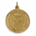 14K Gold Air Force Medal with St. Christopher on Back