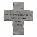 Fine Pewter Dad Visor Clip Cross