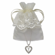 Gold Plated Heart Chalice with Lace Pouch