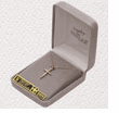 "14K Gold Over Sterling Silver Cross Necklace with a Silver Sash Design on a 18""  Chain"