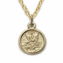 "14K Gold Filled Guardian Angel Baby Medal on 13"" Chain"