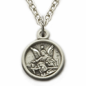 Sterling Silver Guardian Angel Baby Medal