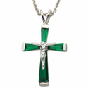 "Sterling Silver May Crucifix on 18"" chain"