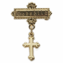"14K Gold Filled Cross Bar Pin  with ""Godchild"" engraved"
