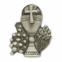 "5/8"" x  1/2"" Fine Pewter  Chalice Pin"