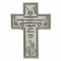 "5"" Fine Pewter Graduation Cross"