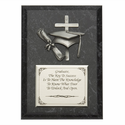 """Personalized 5""""x7"""" Wood Plaque With Fine Pewter Graduation Casting"""