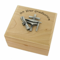 Personalized On Your Graduation Maple Wood Keepsake Box