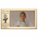 "8"" x 4 1/2"" First Holy Communion Metal Photo Frame with Chalice"