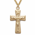 24K Gold over Sterling Silver Crucifix Necklaces
